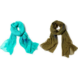 Romantic Silk and Merino Wrap Scarf