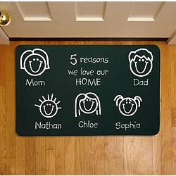 Personalized Reasons We Love Our Home Doormat