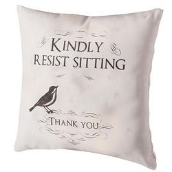 Kindly Resist Sitting Pillow