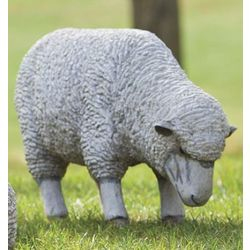 Grazing Sheep Lawn Statue