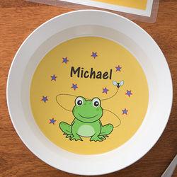 Frog Personalized Melamine Bowl
