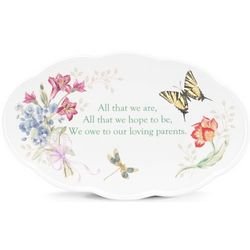 Butterfly Meadow Wedding Plate