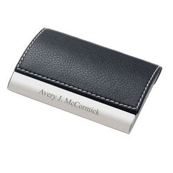 Personalized Leather Business Card Case