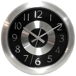 """10"""" Mercury Black Wall Clock"""