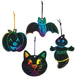 Magic Color Scratch Halloween Shapes Set
