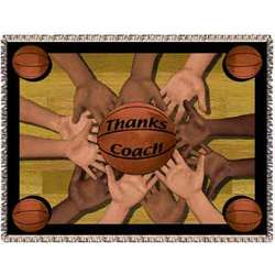 Personalized Basketball Coach Tapestry Throw