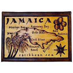 Jamaica Map Leather Photo Album in Natural