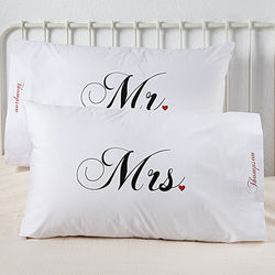 Mr. and Mrs. Personalized Pillowcases