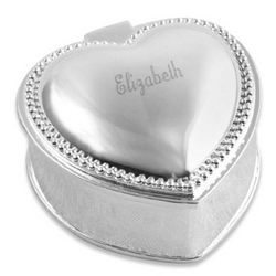 Engravable Small Heart Jewelry Box