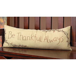 Be Thankful Always Pillow