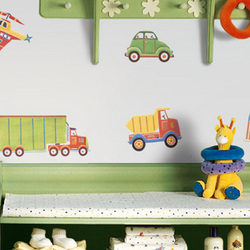 Transportation Peel and Stick Wall Applique