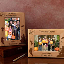 Personalized Haunted House Wooden Picture Frame