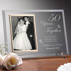 Anniversary Reflections Personalized Glass Frame