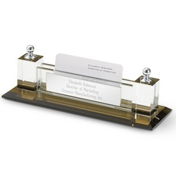 Smoked Glass Cardholder and Namebar