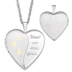 Sterling Silver Engraved Memorial Message Locket