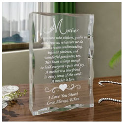 Personalized What it Means to be a Mother Keepsake Plaque