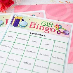 Personalized Baby Shower Bingo Game