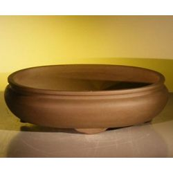 "14"" Oval Ceramic Bonsai Pot"