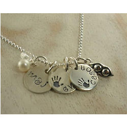 Precious Family Personalized Hand Stamped Necklace