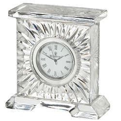 Medallion Crystal Clock