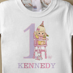 Personalized Baby's First Birthday T-Shirt