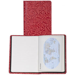 Rose Tooled Red Leather Journal