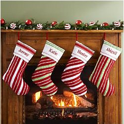 Personalized Ribbon Christmas Stocking