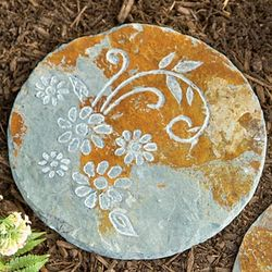 Botanical Design Slate Stepping Stone