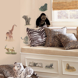 Safari Animal Peel and Stick Wall Applique