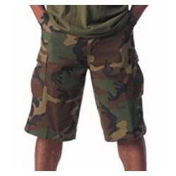 Woodland Camo Extra-Long BDU Shorts