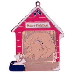 Personalized Puppy in House Ornament