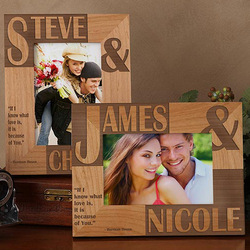 because of you personalized wood frame findgift com