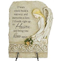 """""""If Tears Could Build A Stairway"""" Memorial Stone with Easel"""