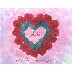 Floral Heart Personalized Art Print