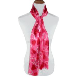 Heart Long Satin Scarves