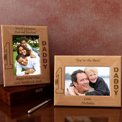 Personalized Number One Wooden Picture Frame