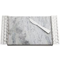 Monique Lhuillier Atelier Metal Cheese Board and Knife