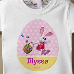 Peter Cottontail Personalized Easter Baby T-Shirt