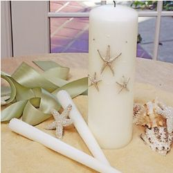 Beach Unity Candle with Tapers
