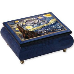 Vincent Van Gogh Handcrafted Musical Jewelry Box