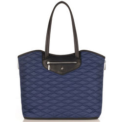 Quilted Nylon Marine Laptop Tote
