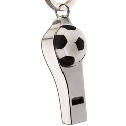 Personalized Soccer Coach Whistle Key Ring