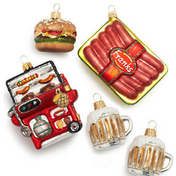 Handmade Backyard BBQ Ornaments