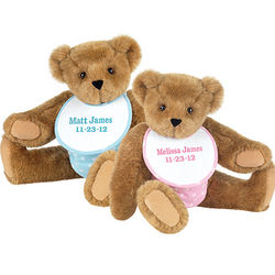 "15"" Twin Boy and Girl Teddy Bear Set"