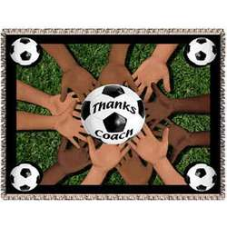 Personalized Soccer Coach Tapestry Throw