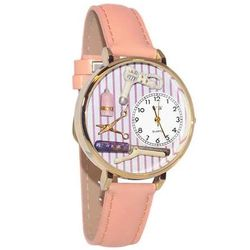 Beautician Whimsical Watch in Large Gold Case