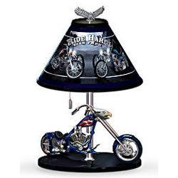 Patriotic American Eagle Chopper Table Lamp