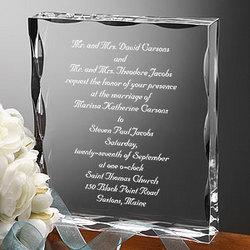 Our Wedding Invitation Engraved Keepsake