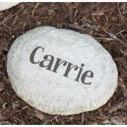 Engraved Family Name Small Garden Stone