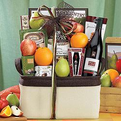 Bricklane Pinot Noir, Fruit and Favorites Gift Basket